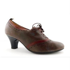 BEAUTIFEEL Brown Victorian Ankle Bootie Pumps 39